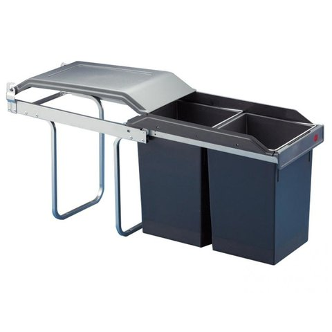 Hailo Tandem Basic, Mülleimer Küche, Schrank 30 cm, Teilauszug, 2 x ...