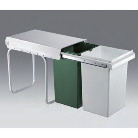 wesco m lleimer 2x15 liter. Black Bedroom Furniture Sets. Home Design Ideas