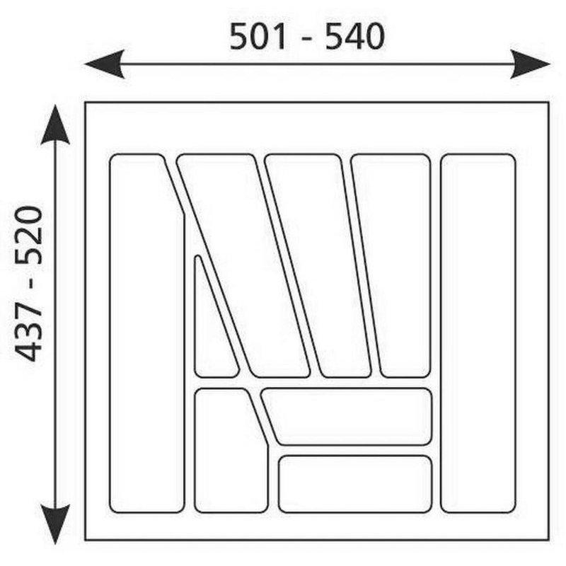 besteckeinsatz multi 60. Black Bedroom Furniture Sets. Home Design Ideas
