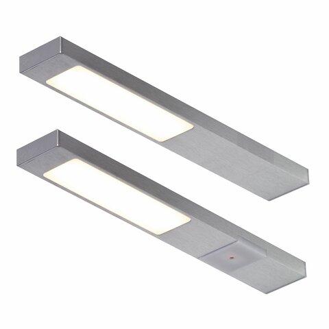 LED Unterbauleuchte Küche, Edelstahl Optik, 2x2,2 Watt, Neoplan ...