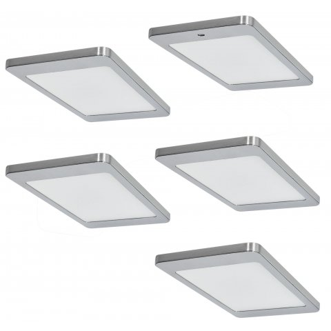 LED Unterbauleuchte, Küche, 5x4,8 W, Kyra, Warmweiss, mit Dimmer ...