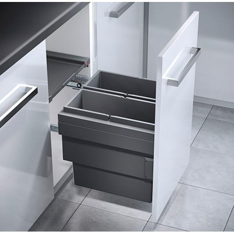Küchen Mülleimer, Ausfahrautomatik, Einbau ab 40  