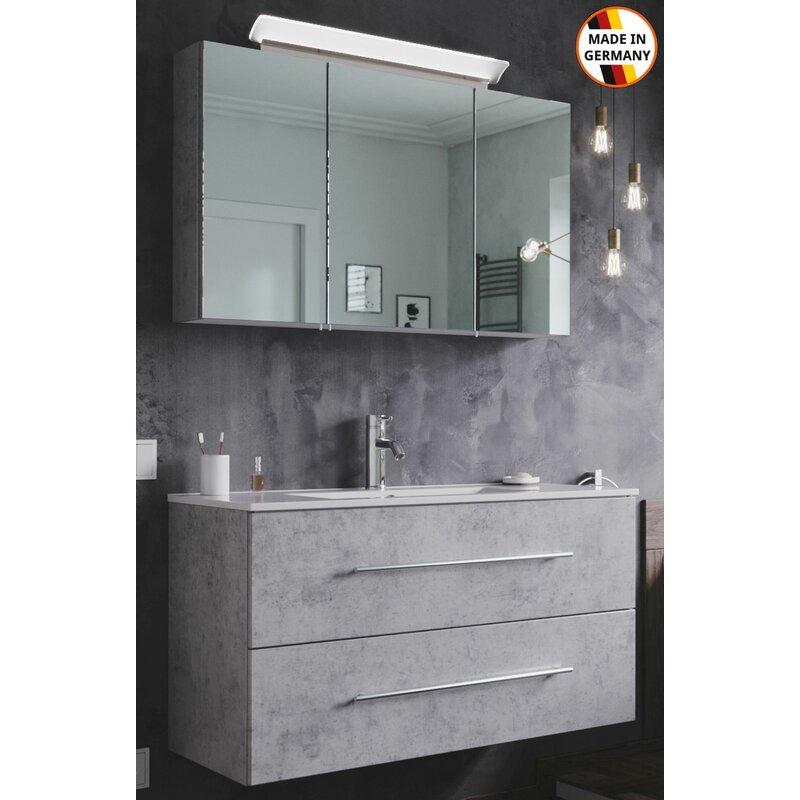 Waschplatz Homeline 100 cm mit LED Spiegelschrank ...